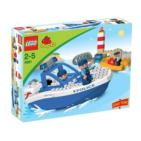 lego boat duplo lego duplo 4861 police boat building toy review