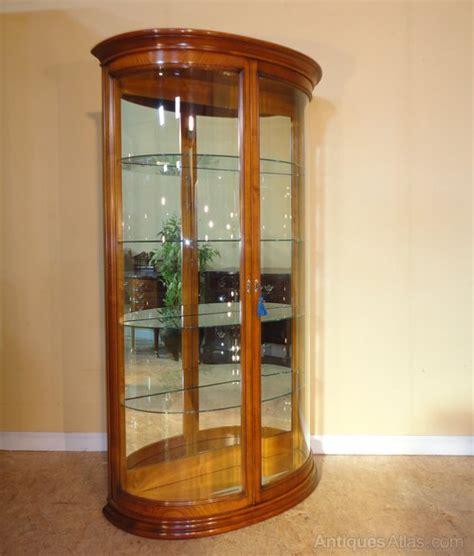 antiques atlas walnut bevelled glass shop display cabinet