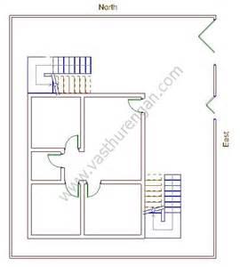 North Facing Floor Plans Per Vastu by Staircase Of An East Facing Home Vasthurengan Com