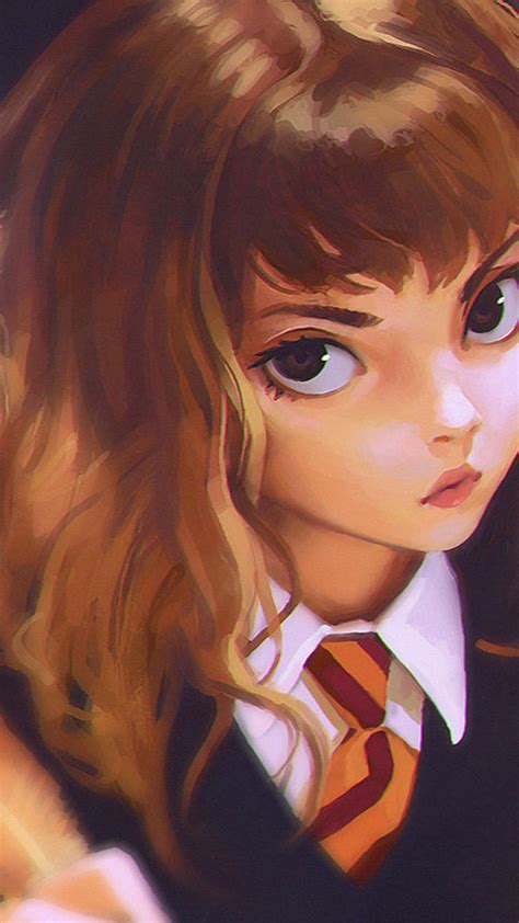 bd hermione harry potter liya art illustration wallpaper