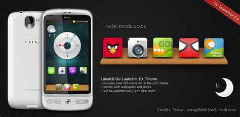 download themes for android go launcher go launcher launcher pro adw launcher lunarui theme