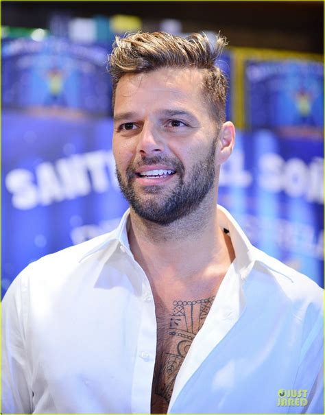 ricky martin tattoos ricky martin shows his chest hair and while