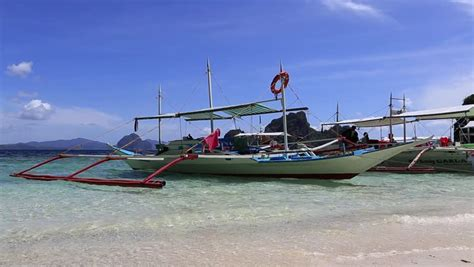 small fishing boat in the philippines philippine local fishing boat on the sea in el nido