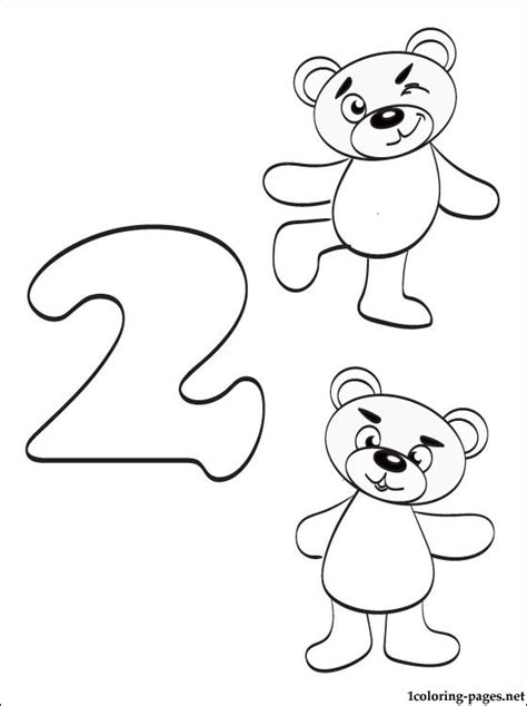 coloring page number 2 number 2 two coloring page coloring pages