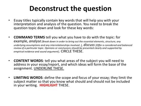 Deconstruction Essay deconstructing an essay