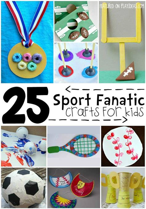 sports crafts for sports themed crafts