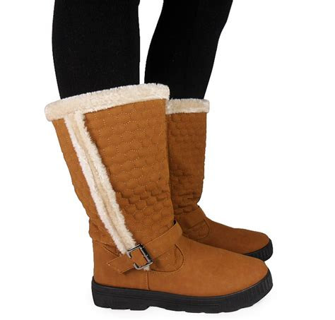 Heel W1398 New Arrival 9 Oct 2015 womens wide calf warm winter buckle snow flat boots