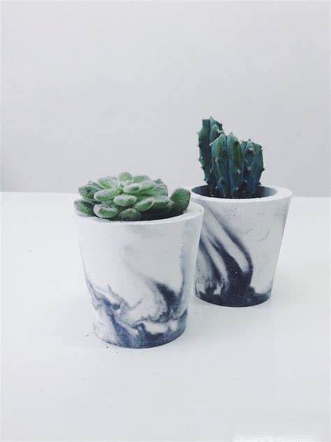 small planter pots small black marbled cement pots planters for cactus