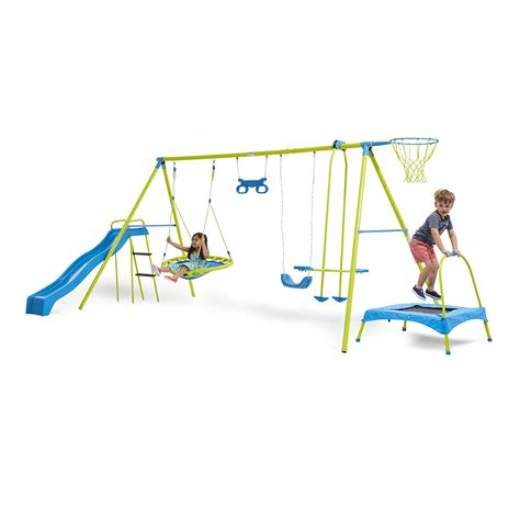 swing and slide set kmart 7 station swing set kmart
