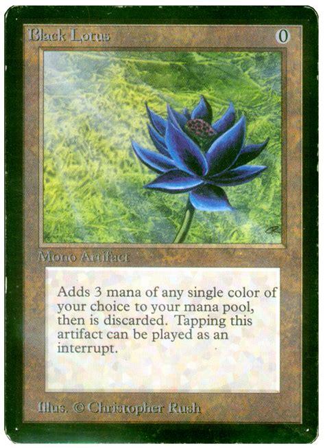 lotus magic card magic the gathering black lotus taringa
