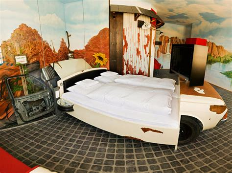 creative bedrooms amazing car themed rooms of v8 hotel germany