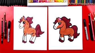 draw cartoon horse art kids hub