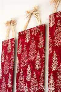 pens and needles diy christmas wall art