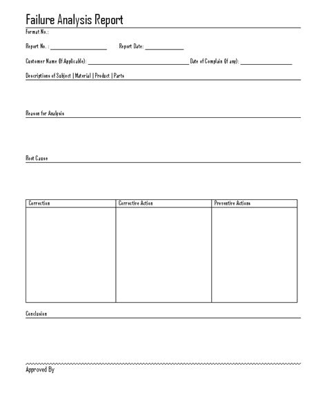 failure analysis report template interesting template format for failure analysis report