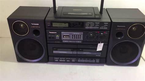 radio cd cassette panasonic rx dt680 cd radio cassette boombox