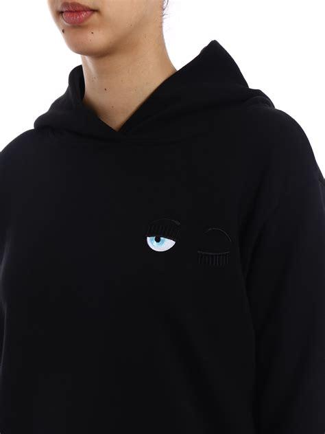 chiara ferragni hoodie chiara ferragni small eyes over hoodie sweatshirts