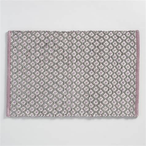 chenille bath rugs chenille dot woven bath mat world market