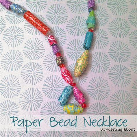 How To Make A Paper Bead Necklace - diy vinyl necklace guest post my suburban kitchen