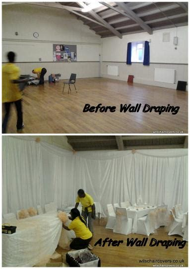 swag ls that into wall venue wall draping