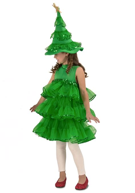 glitter christmas tree costume for toddlers girls