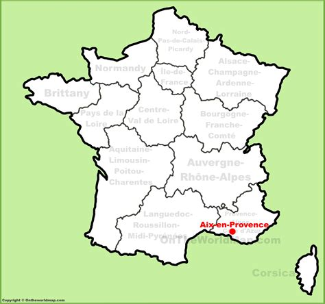 provence france map free printable maps aix en provence location on the france map