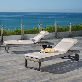 two person chaise lounge costco vistano chaise lounger 2 pack