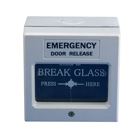 Emergency Door Release by White Emergency Door Release Access Resettable