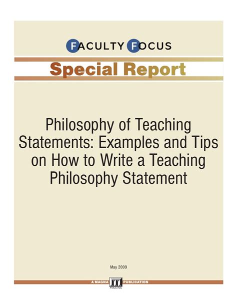 teaching tips tricks a professor s guide to thriving and surviving in the college classroom books faculty focus special report philosophy of teaching statements