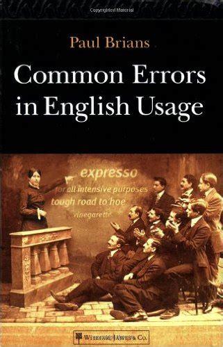 0008101760 collins common errors in english download common errors in english usage paul brians