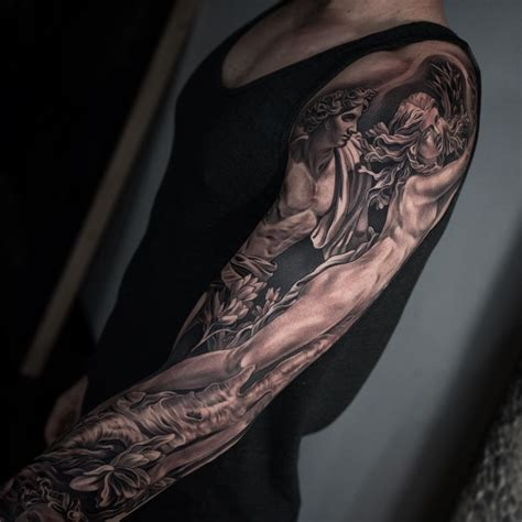 full sleeve tattoo designs black grey arm sleeve best ideas gallery
