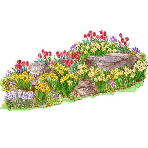 Bright Spring Garden Plan Bulb Garden Layout