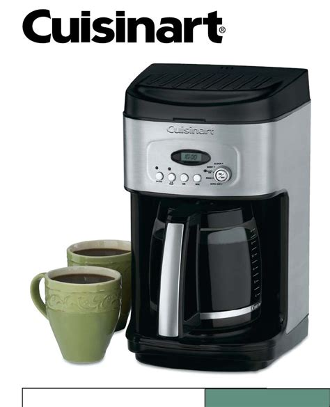 Cuisinart Coffee Maker Instructions 10 Cup In Traditional Grind Brew Automatic Coffeemaker