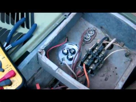 fan capacitor working how to fix your ac fan kicks on but compressor not working replacing run start capacitor