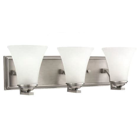 Sea Gull Vanity Lighting Sea Gull Lighting Somerton 3 Light Antique Brushed Nickel Vanity Light 44376 965 The Home Depot