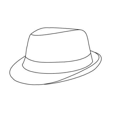 fedora hat coloring page fedora lineart free use by emgeal on deviantart