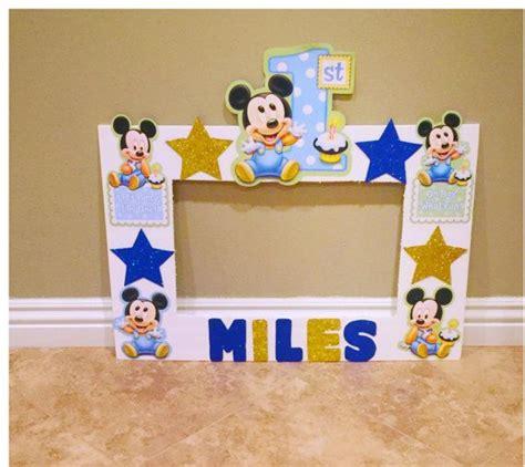 6 ideas para un bautizo 218 nico mickey mouse 1st birthday photo frame photo by natashathecreator fiestas