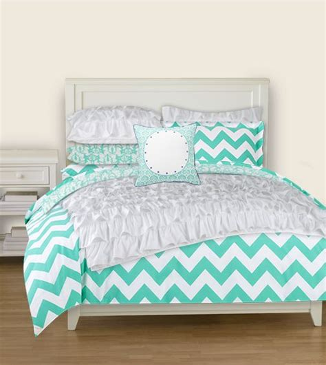 blue chevron comforter pbteen bedding room pinterest chevron comforter