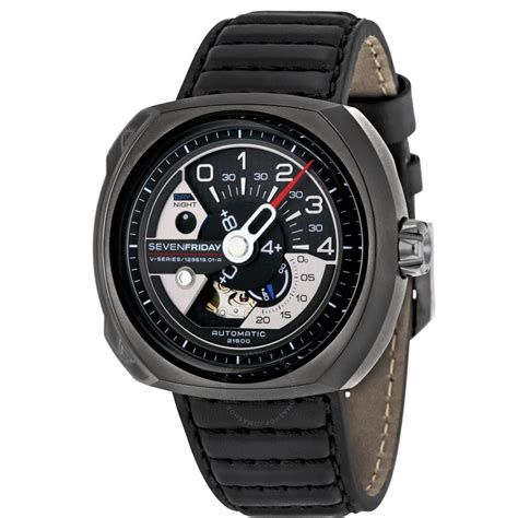 sevenfriday v series automatic black leather s