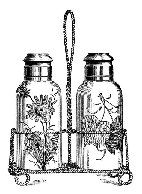 Vintage Kitchen Clipart by Salt And Pepper Shakers Free Vintage Clip