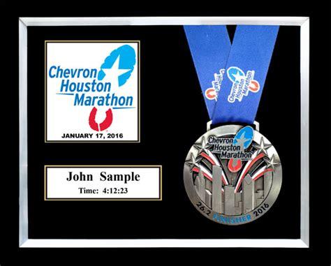 10 x 10 matted shadow box 2016 chevron houston marathon and aramco houston half