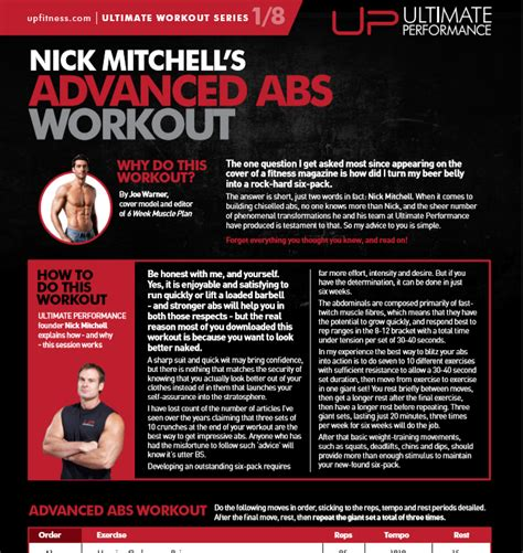 nick mitchell s advanced abs workout ultimate performance