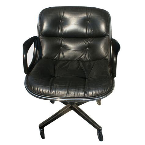 Knoll Pollock Executive Swivel Arm Chair Black Leather Ebay Executive Swivel Chair