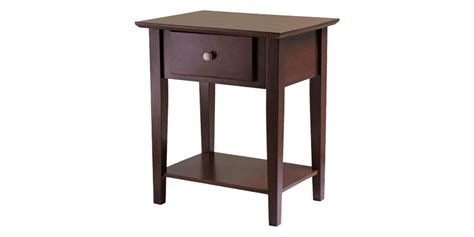 shaker style end table brown wood end table in shaker style