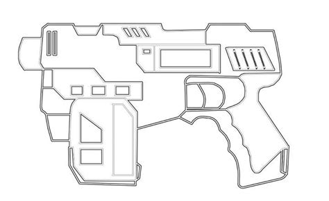 nerf gun coloring pages 23562 bestofcoloring com