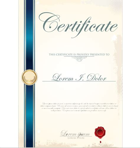 vector certificate template free vector in adobe