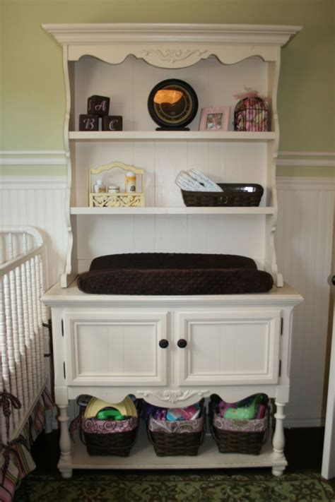 Changing Table Hutch An Hutch Turned Into A Changing Table My Favorite Baby S Room Ideas