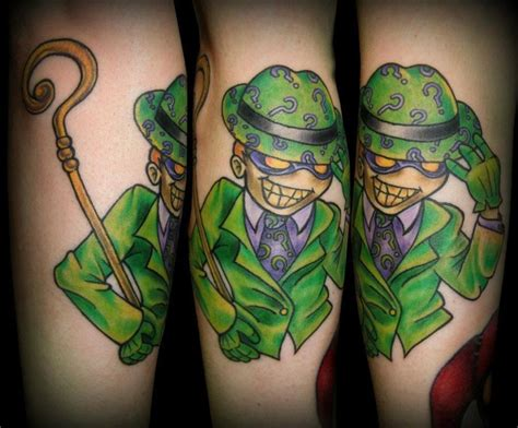 riddler tattoo 273 best images about artwork tattoos superheroes and