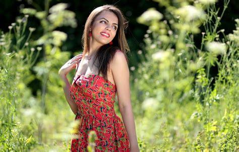 girl wallpaper goodfon wallpaper girl summer happy smile brunette images for