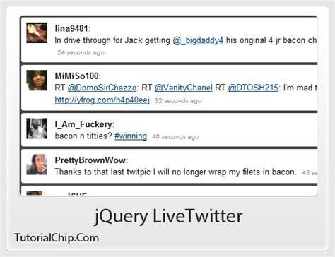 password pattern in jquery jquery livetwitter tutorialchip