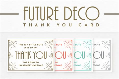 Thank You Note Illustrator Template Futuredeco Thank You Card Card Templates On Creative Market
